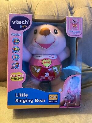 VTech Little Singing Bear Pink Plush Toy New In Box