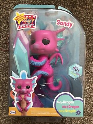 WowWee FINGERLINGS Glitter Baby Dragon SANDY Interactive Toy