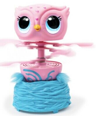 Owleez Flying Baby Owl Interactive Toy with Lights and