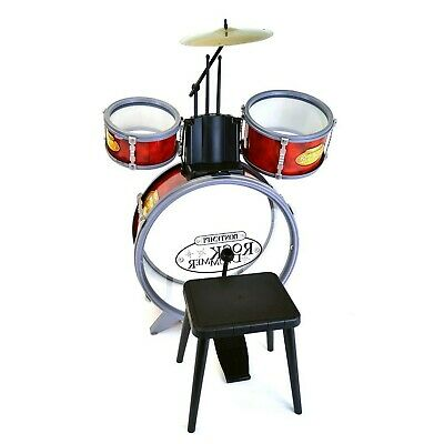 Bontempi  Pieces Drum Set with Stool, Red,