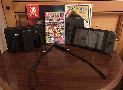 Nintendo Switch Grey Console Bundle - Mario Kart 8 - Very