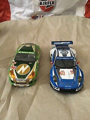 Scalextric Digital Porsche 911 GT3R and Porssche 911 RSR