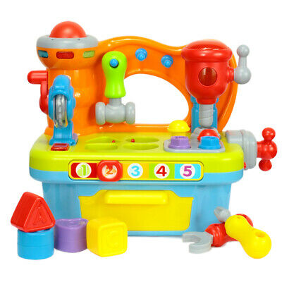 1X(Musical Building Tools Workbench Toy,for Kids