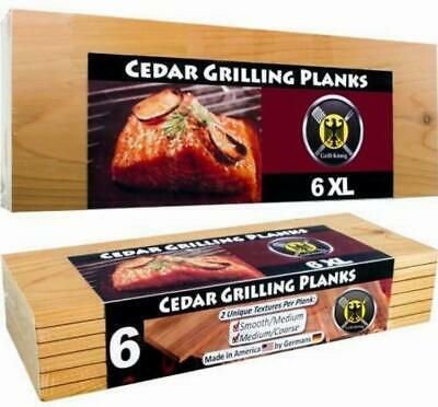 6 XL FULL LENGTH Cedar Grilling Planks – 6pack