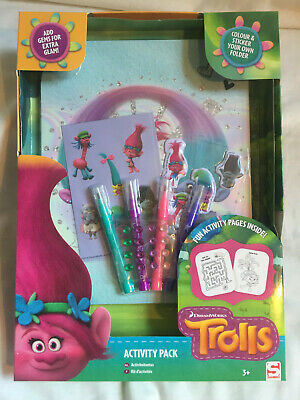 DREAMWORKS Trolls Activity Pack Fun Colour and Sticker +