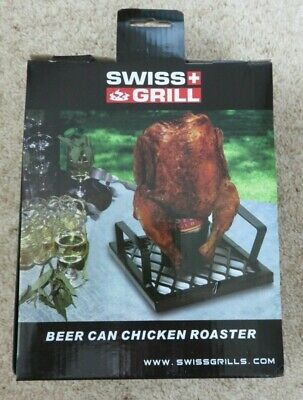 SWISS GRILL BEER CAN CHICKEN ROASTER - NEW IN BOX!