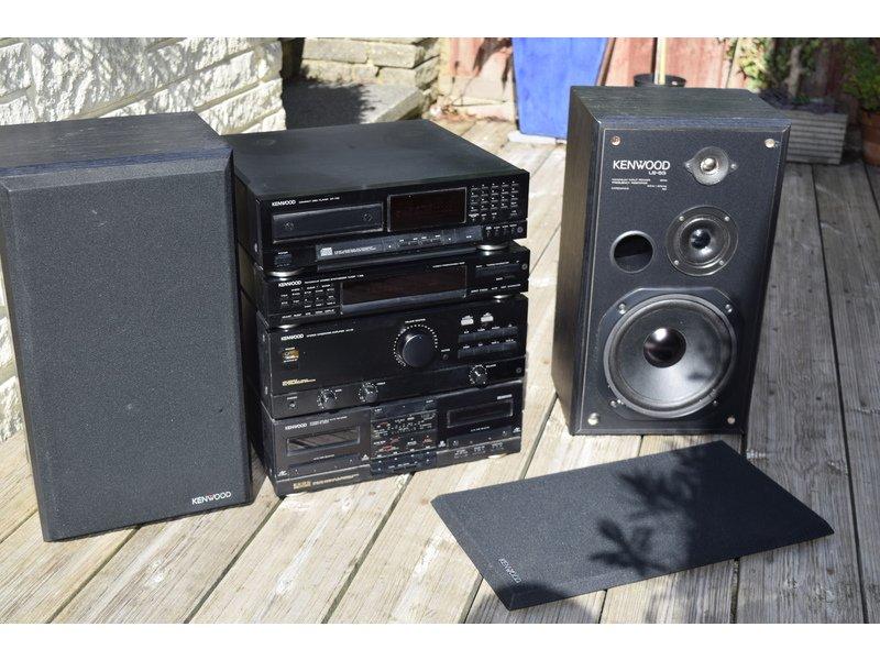 Vintage/Retro Kenwood HiFi separates=Twin cassette-CD-Tuner