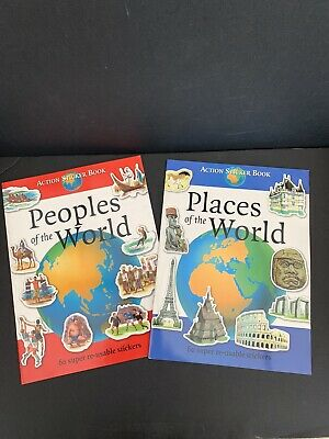 Educational Sticker Books - People Of The World And Places