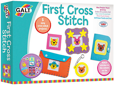 Galt Toys First Cross Stitch, Embroidery Craft Kit for