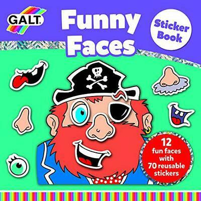 Galt Toys Funny Faces Sticker Book, Good