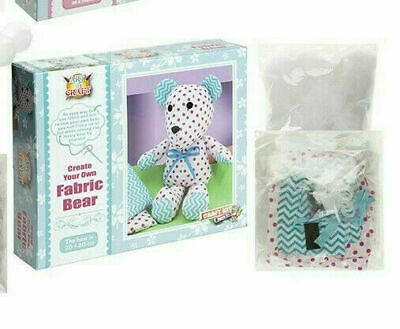Childrens Sew Your Own Stuffed Soft Toy Bear teddy Craft Kit