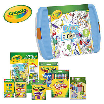 Crayola Childrens Colour and Create Tub Colouring Crayons