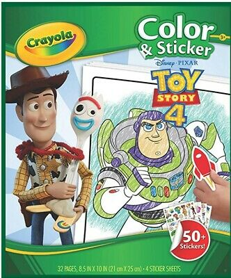 Crayola Colour & Sticker Toy Story 4 Colouring Book