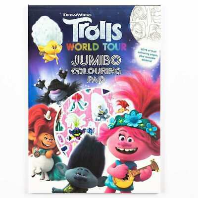 Trolls World Tour Jumbo Colouring Pad, A4 Childrens