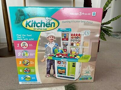 deAO My Little Chef Kitchen Play Set with Panel, Water