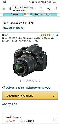 Nikon D MP Digital SLR Camera - Black+ extras