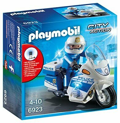 Playmobil  City Action Police Bike with LED Light, for