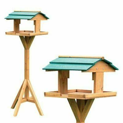 Deluxe Wooden Wild Bird Table Freestanding Traditional