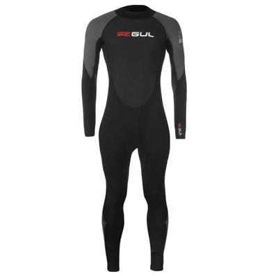 GUL Mens Contour Full Wetsuit Black/Grey/Red - Small