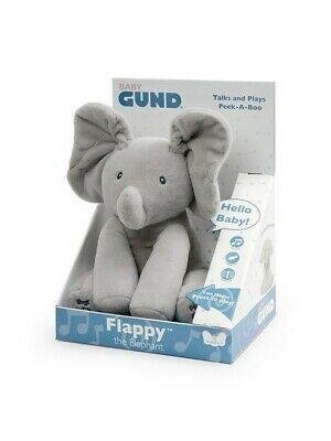 Gund Flappy The Elephant Animated Peek A Boo Musical Plush