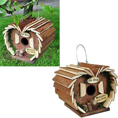 Large Wooden Bird House Feeder Table Wood Nesting Box