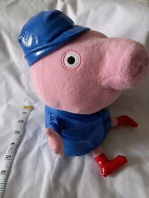 Peppa Pig George in blue raincoat Plush Soft Toy