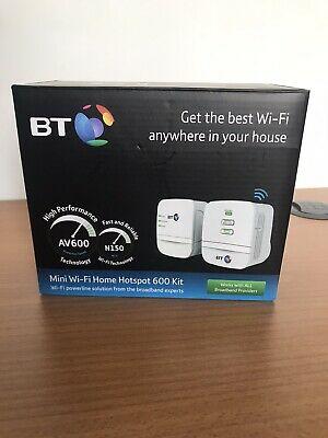 BT Mini Wi-Fi Home Hotspot Broadband 600 Kit Powerline