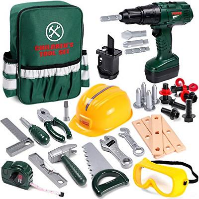 32PCS Kids Tool Set Construction Play Tools Kit Electric
