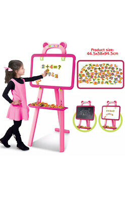 Quickdraw 3 In 1 Childrens Double Sided Pink Learning