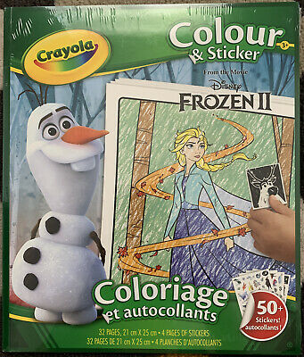 Crayola Disney Frozen 2 32 Page Colour n Sticker Pack 32