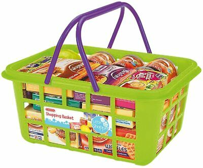 Kids Shopping Basket Food Grocery Childrens Pretend Play Toy