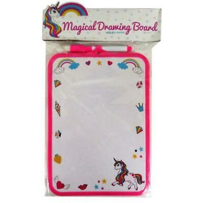 Kids Unicorn Magical Dry Erase White Drawing Board with Pen
