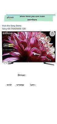 Sony KD75XGBU 75 Inch TV Smart 4K Ultra HD LED Freeview
