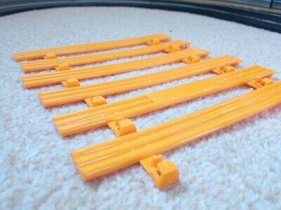 6 orange Scalextric Classic Armco Crash Barriers. Great