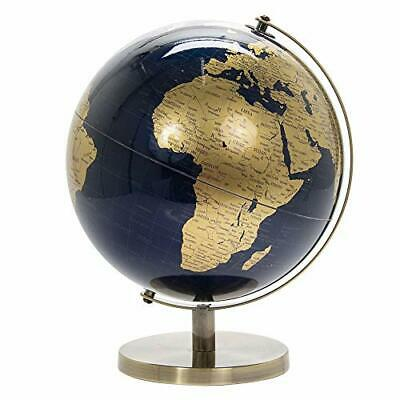 Lesser & Pavey Vintage Rotating Gold and Blue World Globe