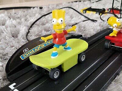 Micro Scalextric Bart Simpson The Simpsons car. NEW BRAIDS &