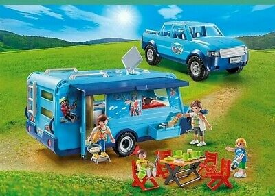 PLAYMOBIL  Family Fun Park Pickup with Caravan Camper