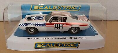 SCALEXTRIC Slot Car C Chevrolet Camaro - Stars n Stripes