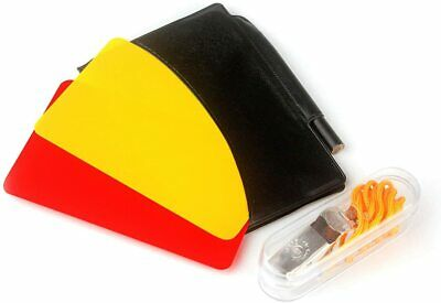 Soccer Referee Card Set Red Yellow and Metal Whistle