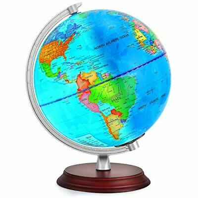 TTKTK, Illuminated World Globe for Kids with Wooden