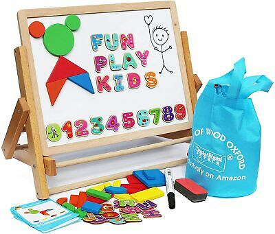 Toys of Wood Oxford Wooden Easel for Children Foldable-Doubl