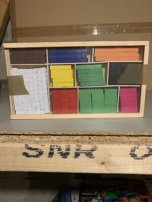 Wooden Educational Maths Blocks Set Introductory Wood
