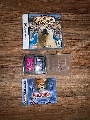 ZOO TYCOON NINTENDO DS GAME BOX & MANUAL + NARNIA + DISNEY
