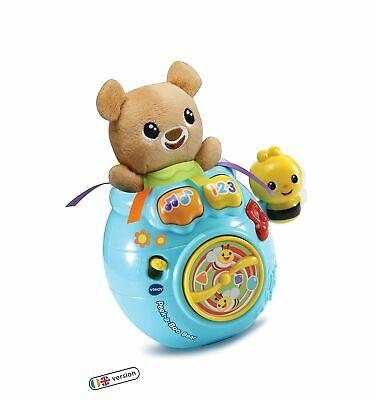 VTech Baby Peek-a-Boo Bear, Baby Interactive Toy for Sensory