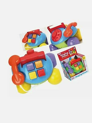 FunTime Pull Along Ringing Phone Baby Toddler Activity
