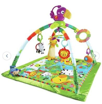 Fisher-Price Rainforest Music and Lights Deluxe Baby Play