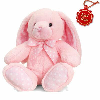 Keel Toys - Baby Spotty Rabbit - Pink - Soft Toy 25cm