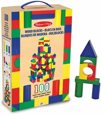 Melissa & Doug 100 WOODEN BUILDING BLOCK SET Toy/Gift