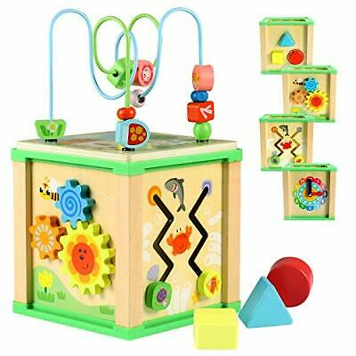 Lewo Activity Cube Baby Toys Educational Toy Wooden Bead