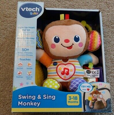 Vtech Baby Swing And Sing Monkey Toy 3-18 Months